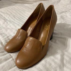 Franco Sarto tan chunky heels size 7.5